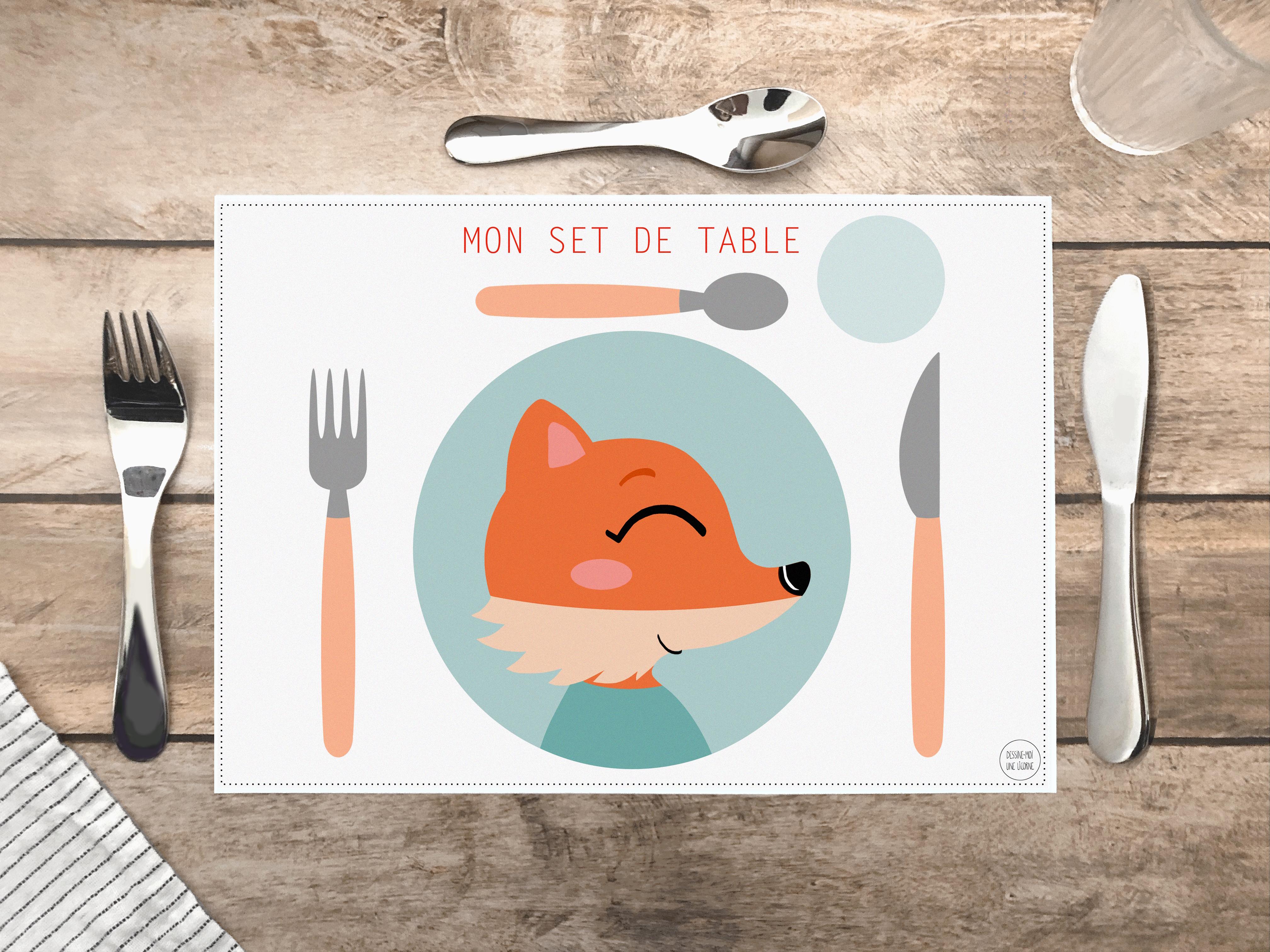 Printable] Un set de table pédagogique pour apprendre aux enfants
